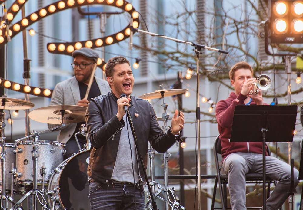 Michael Buble performing live on the One Show
