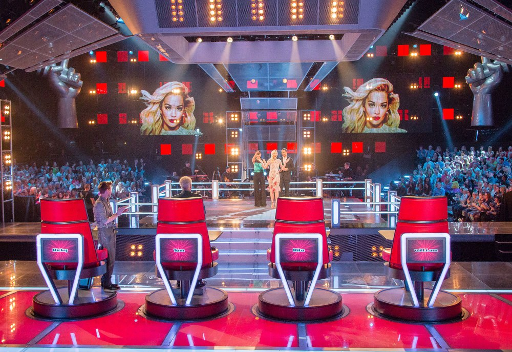 The Voice UK Set lighting and stage battles
