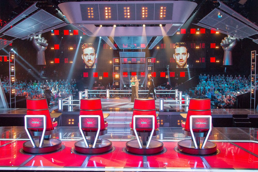 The Voice UK Set lighting and stage