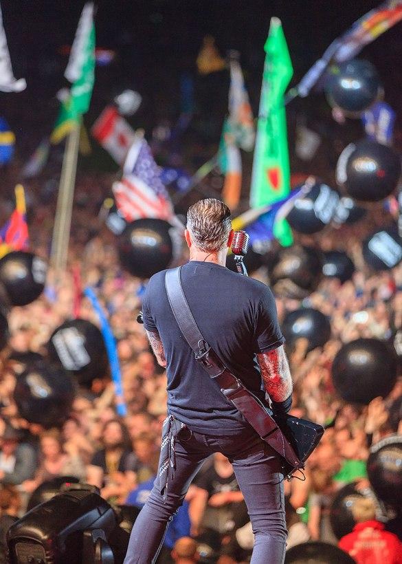 James Hetfield performing at Glastonbury