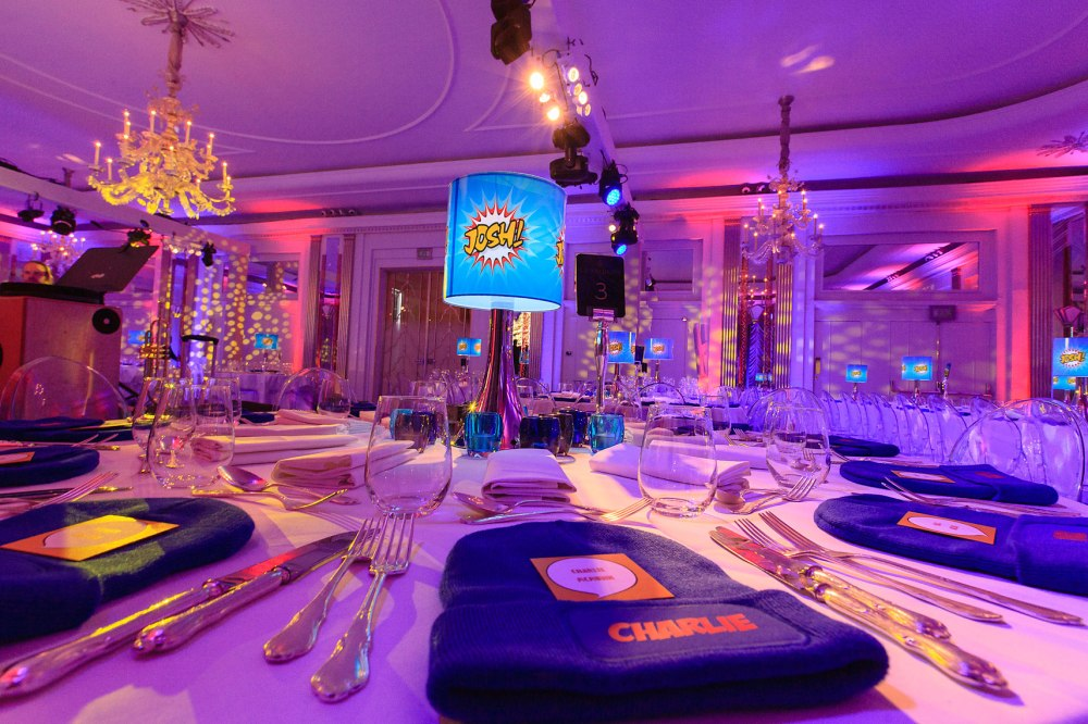 Production room photo from Claridges ballroom in London for bah mitzvah