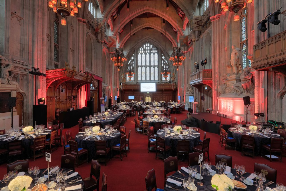 Large gothic chamber decorated for high end event