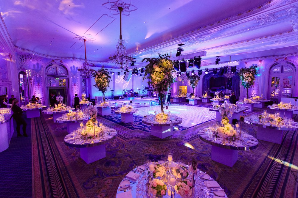 London ballroom wedding room decorations