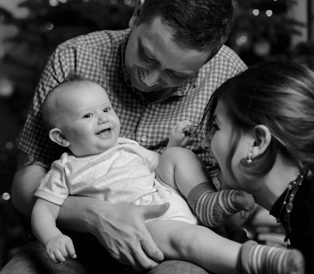 Christmas theme family lifestyle portrait