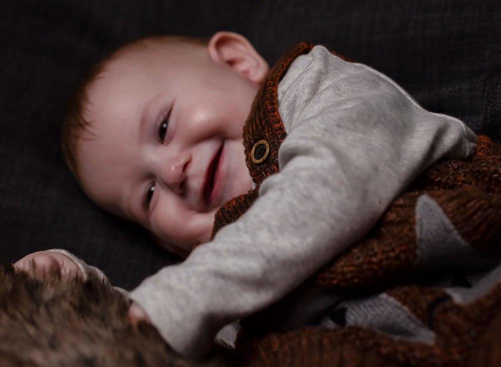 baby smiling laughing