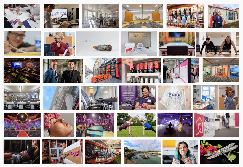 collage of corporate images